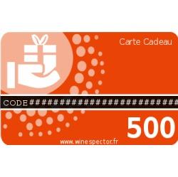 Carte cadeau 500