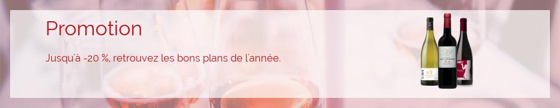 Les vins en promotion ce mois-ci.